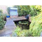 Wohlfühl-Ambiente in bevorzugter Lage! Hochwertig ausgestatter Bungalow, Garage/ Stellplatz, idyllischem Garten mit Teichen